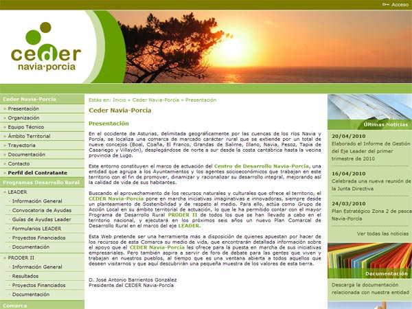 Centro de Desarrollo Navia-Porcía - Edise Soluciones: diseño y desarrollo de páginas Web