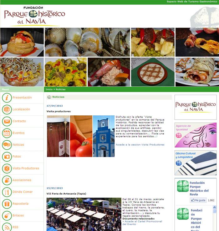Espacio Web de Turismo Gastron�mico - Edise Soluciones: diseño y desarrollo de páginas Web