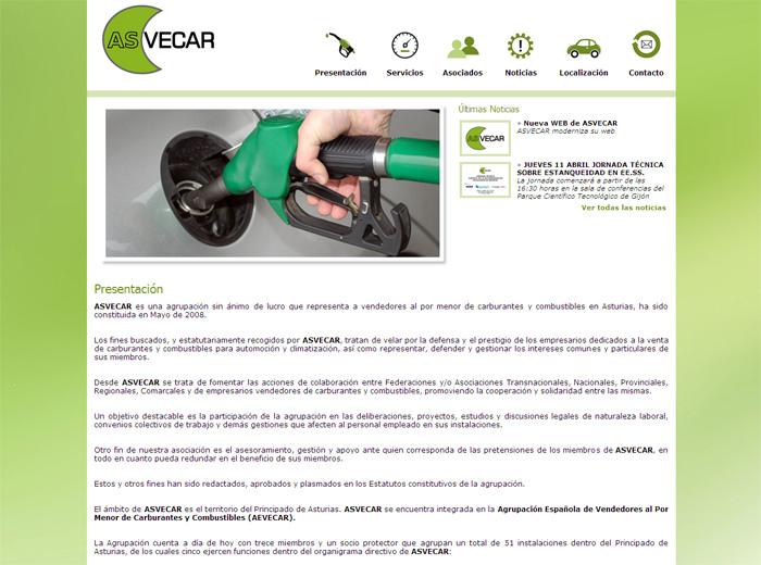 P�gina Web de ASVECAR - Edise Soluciones: diseño y desarrollo de páginas Web