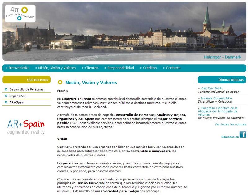 CuatroPI Tourism - Edise Soluciones: diseño y desarrollo de páginas Web