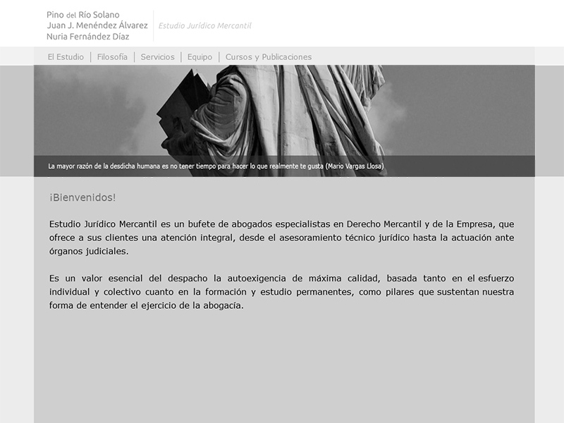 Página Web Estudio Jurídico Mercantil - Edise Soluciones: diseño y desarrollo de páginas Web