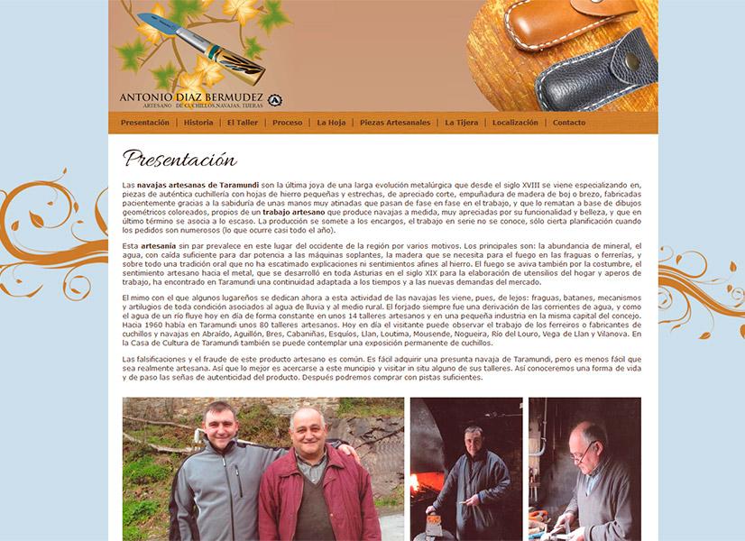 P�gina Web Antonio D�az - Edise Soluciones: diseño y desarrollo de páginas Web
