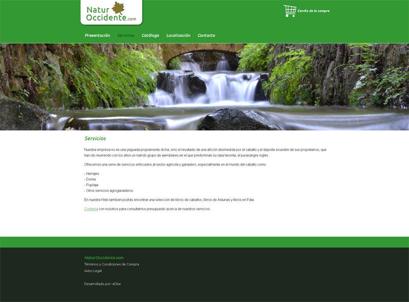 Página Web NaturOccidente.com - Edise Soluciones: diseño y desarrollo de páginas Web