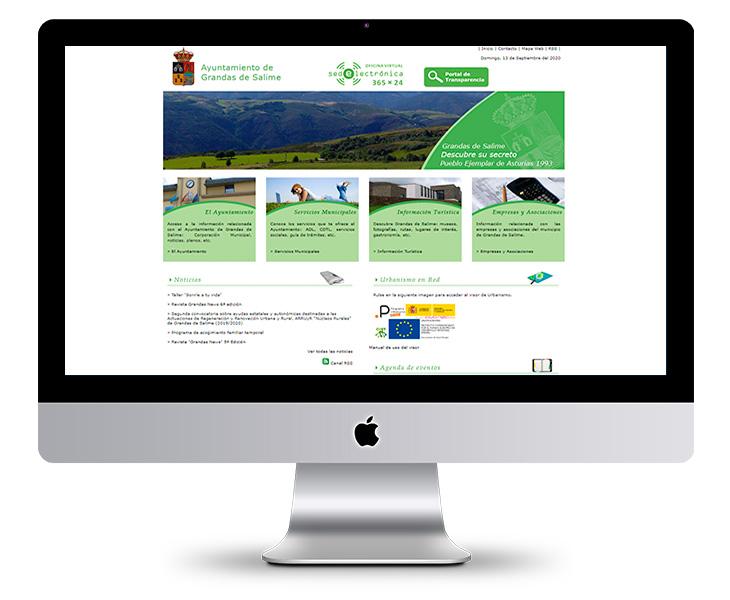 Portal Web Ayuntamiento de Grandas de Salime - Asturias