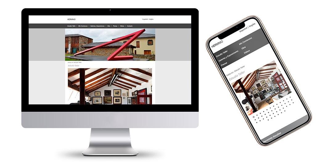 Página Web del Escultor asturiano Herminio