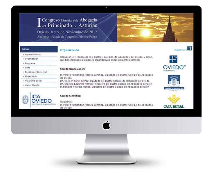 Página Web del I Congreso de la Abogacía del Principado de Asturias