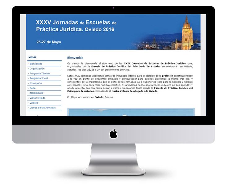 Página Web XXXV Jornadas de Escuelas de Práctica Jurídica