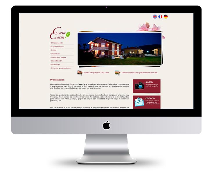 Página Web de los Apartamentos Turísticos Casa Carín - Asturias
