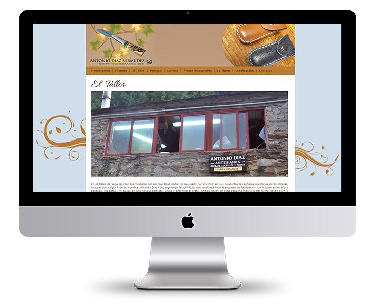 Página Web del Artesano Antonio Díaz