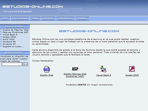 Portal Web de Estudios Online - Edise Soluciones: diseño y desarrollo de páginas Web