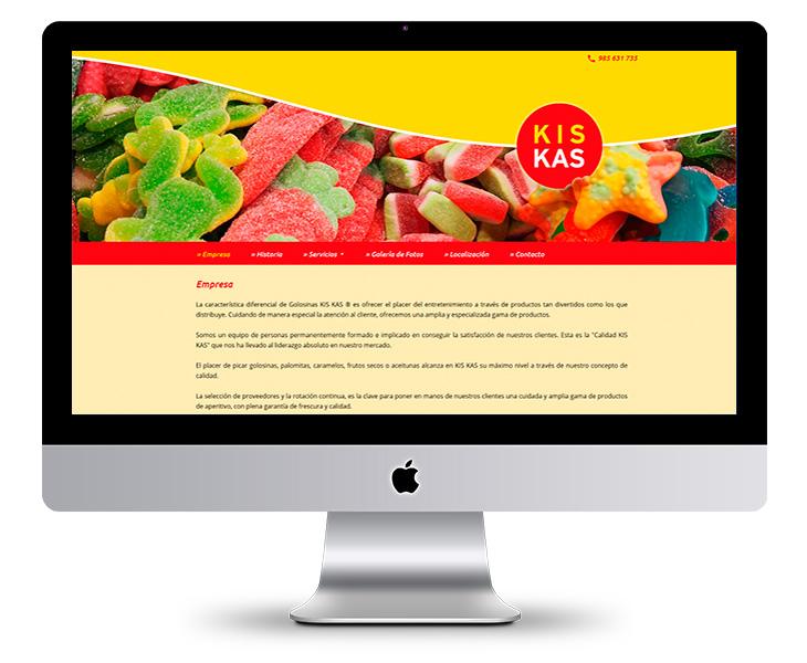 Página Web de Golosinas KIS KAS en Navia (Asturias)
