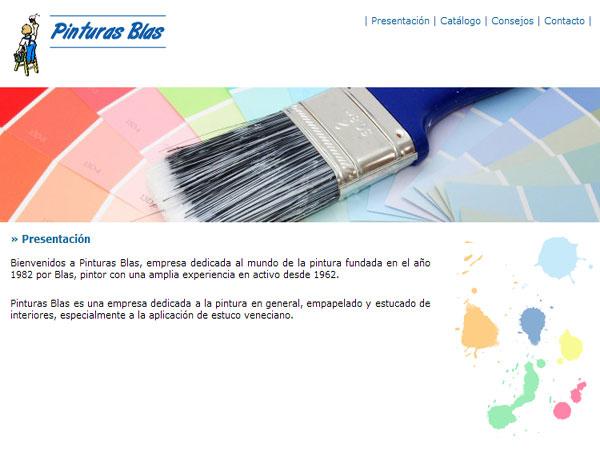 Web de la empresa Pinturas Blas en Barcelona - Edise Soluciones: diseño y desarrollo de páginas Web