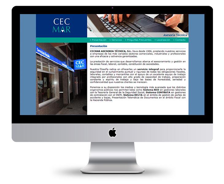 Página Web de la Asesoría CECMAR en Asturias