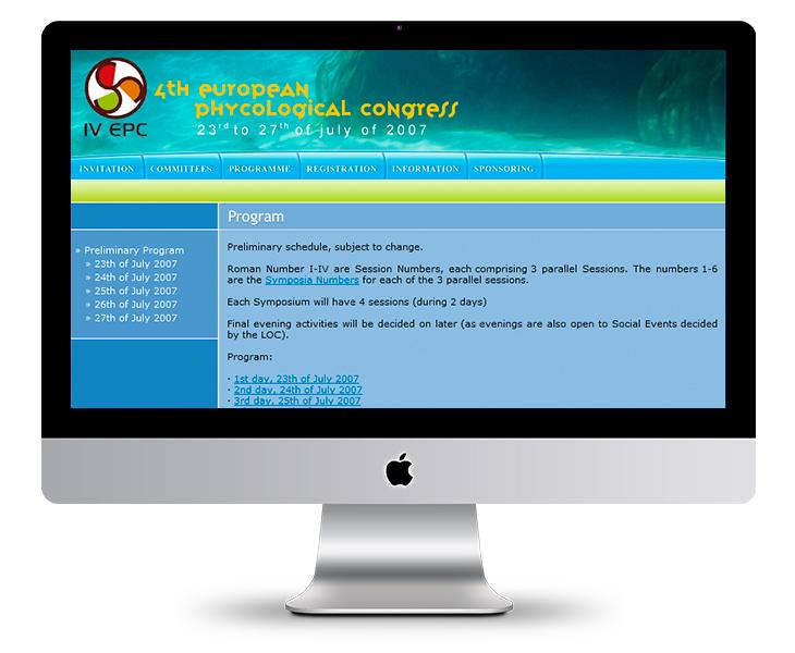 Página Web del II Symposium Internacional de Implantología