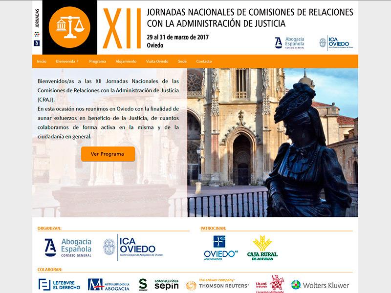 Jornadas Nacionales de Comisiones de Relaciones con la Administración de Justicia - Edise Soluciones: diseño y desarrollo de páginas Web