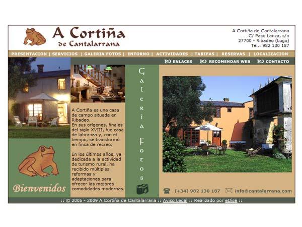 A Corti�a de Cantalarrana - Ribadeo - Lugo - Edise Soluciones: diseño y desarrollo de páginas Web