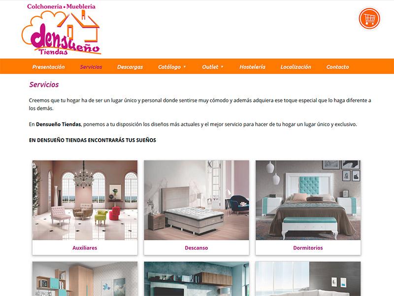 Página Web de Densueño Tiendas en Navia, Luarca y Ribadeo - Edise Soluciones: diseño y desarrollo de páginas Web