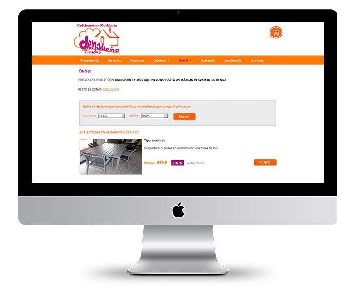 Página Web de Densueño Tiendas en Navia, Luarca y Ribadeo