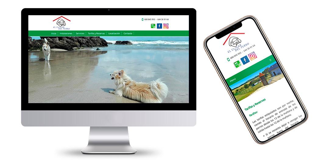 Página Web de la Residencia Canina El Lugar del Perro en Castropol