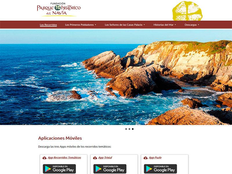 Portal Web de los Recorridos Temáticos del Parque Histórico del Navia