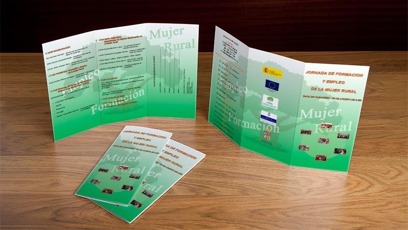 Trípticos para AFAMMER Asturias - Edise Soluciones: diseño y desarrollo de páginas Web