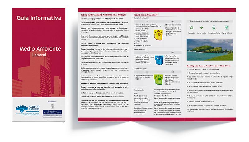 Tríptico Guía Informativa Medio Ambiente Laboral - Asorco Asturias