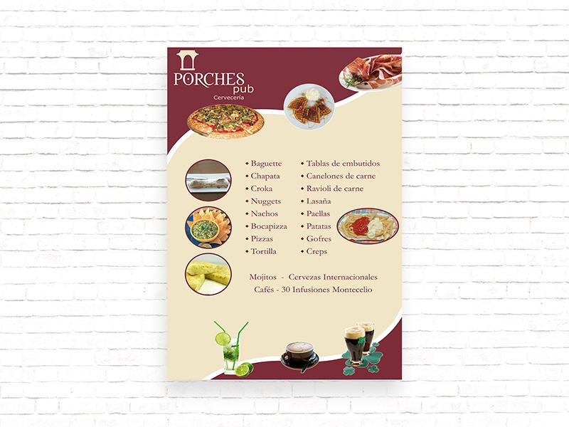 Cartel para la Cervecería Porches - Edise Soluciones: diseño y desarrollo de páginas Web