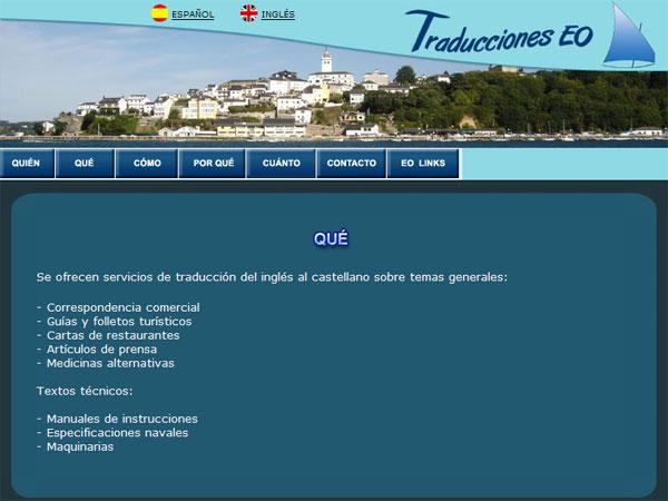 Traducciones EO - Edise Soluciones: diseño y desarrollo de páginas Web