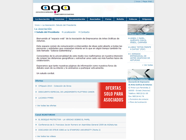 Asociación de Empresarios de Artes Gráficas de Asturias - Oviedo - Asturias - Edise Soluciones: diseño y desarrollo de páginas Web