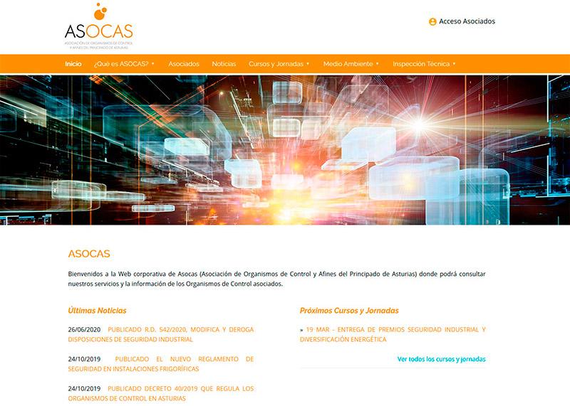 ASOCAS - Asociaci�n de Organismos de Control y Afines - Oviedo - Asturias - Edise Soluciones: diseño y desarrollo de páginas Web