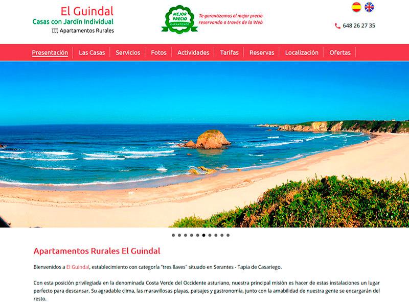 Apartamentos Rurales El Guindal - Asturias - Edise Soluciones: diseño y desarrollo de páginas Web