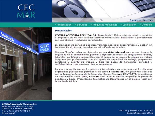 CECMAR - Asturias - Edise Soluciones: diseño y desarrollo de páginas Web