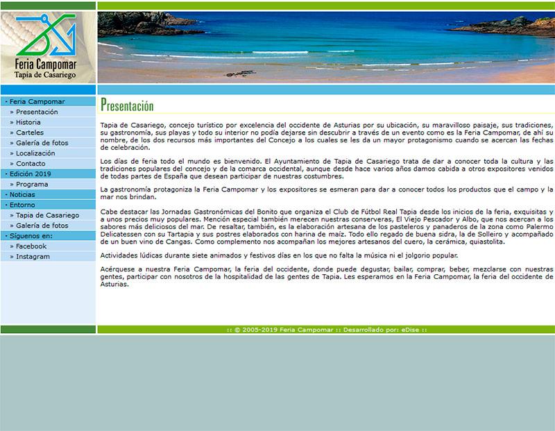 Feria Campomar - Edise Soluciones: diseño y desarrollo de páginas Web