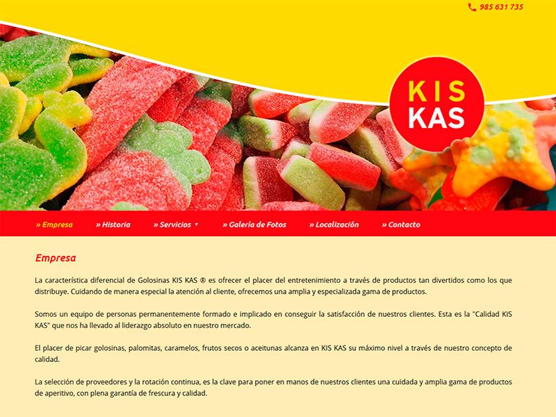 Golosinas KIS KAS en Navia (Asturias) - Edise Soluciones: diseño y desarrollo de páginas Web