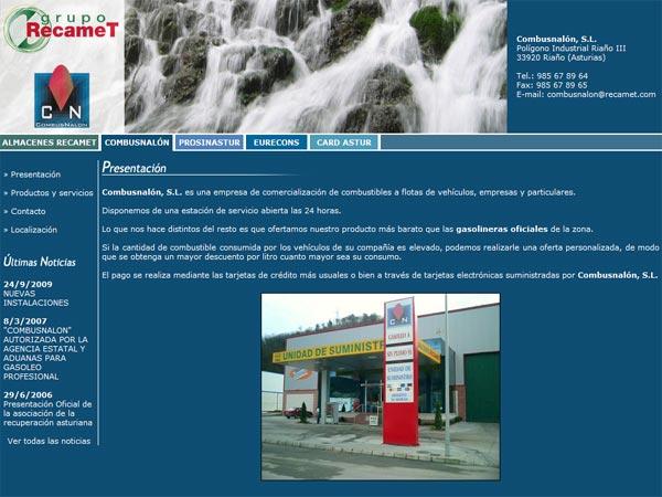 Grupo Recamet - Edise Soluciones: diseño y desarrollo de páginas Web