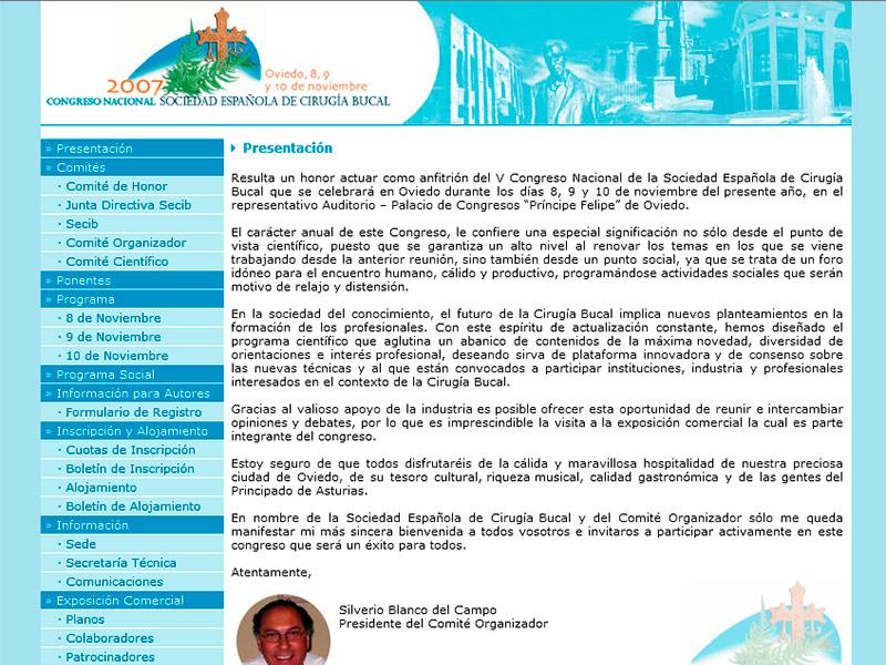 V Congreso Anual de la Sociedad Espa�ola de Cirug�a Bucal - Edise Soluciones: diseño y desarrollo de páginas Web