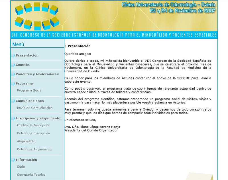 VIII Congreso de la Sociedad Española de Odontología - Edise Soluciones: diseño y desarrollo de páginas Web