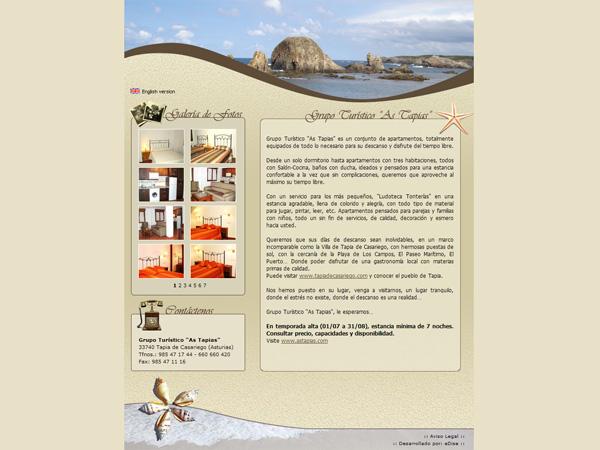 Grupo Turístico As Tapias - Edise Soluciones: diseño y desarrollo de páginas Web