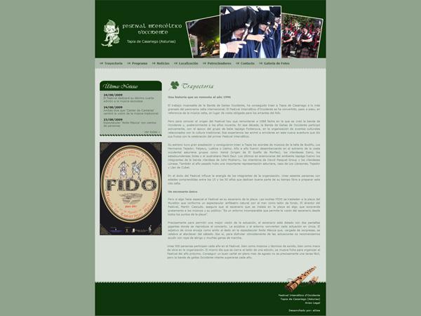 Festival Intercéltico - Edise Soluciones: diseño y desarrollo de páginas Web