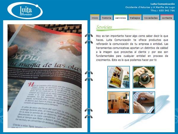 Luita Comunicación en el Occidente de Asturias y la Mariña Lucense - Edise Soluciones: diseño y desarrollo de páginas Web