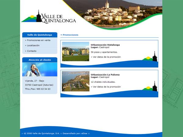 Página Web de Valle de Quintalonga - Castropol - Asturias - Edise Soluciones: diseño y desarrollo de páginas Web