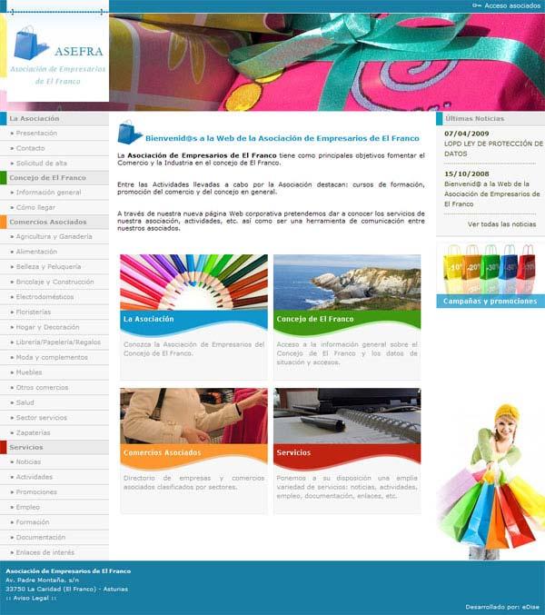 Asociación de Empresarios de El Franco - Asturias - Edise Soluciones: diseño y desarrollo de páginas Web