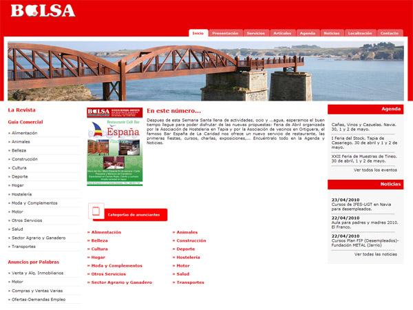 Bolsa Publicidad - Edise Soluciones: diseño y desarrollo de páginas Web