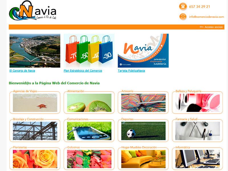 Plan Estrat�gico del Comercio de Navia - Asturias - Edise Soluciones: diseño y desarrollo de páginas Web