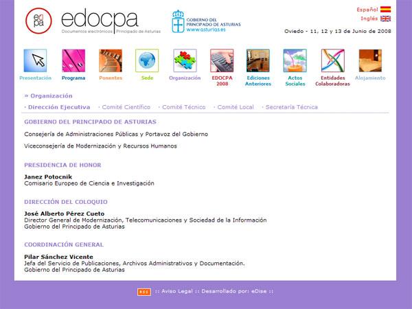 Congreso EDOCPA 2008 - Edise Soluciones: diseño y desarrollo de páginas Web