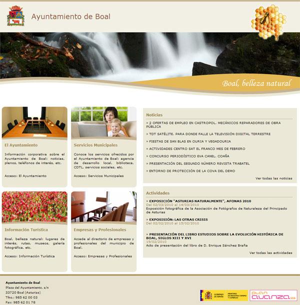 Ayuntamiento de Boal - Asturias - Edise Soluciones: diseño y desarrollo de páginas Web