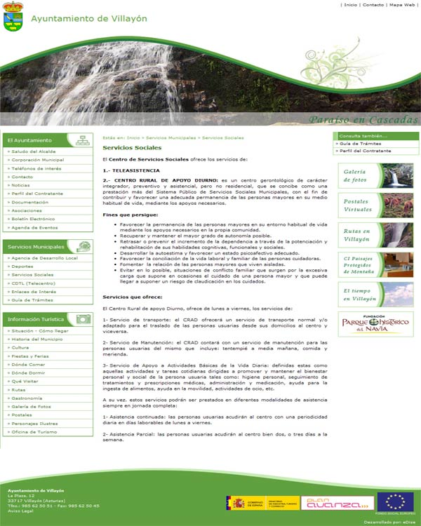 Ayuntamiento de Villay�n - Asturias - Edise Soluciones: diseño y desarrollo de páginas Web