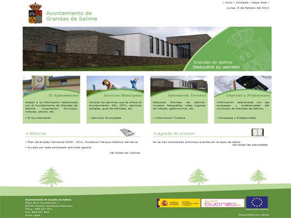 Ayuntamiento de Grandas de Salime - Asturias - Edise Soluciones: diseño y desarrollo de páginas Web