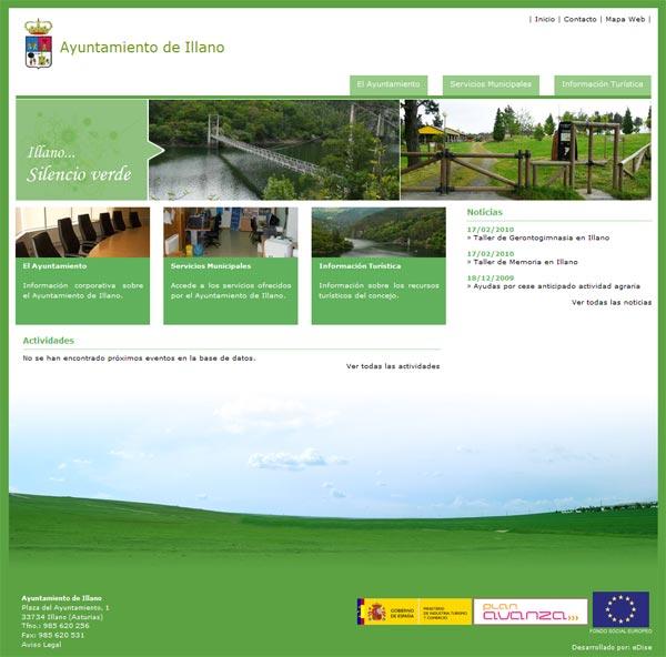 Ayuntamiento de Illano - Asturias - Edise Soluciones: diseño y desarrollo de páginas Web