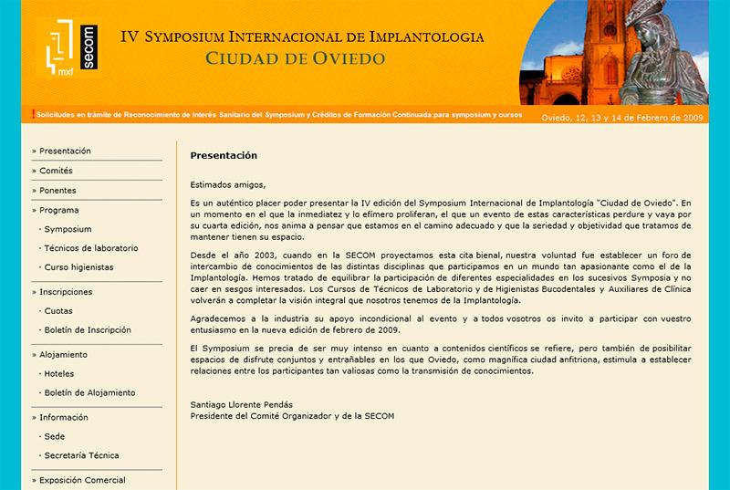 IV Symposium Internacional de Implantolog�a - Edise Soluciones: diseño y desarrollo de páginas Web